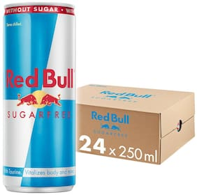 Red Bull Energy Drink Sugarfree 250 ml (Pack of 24)
