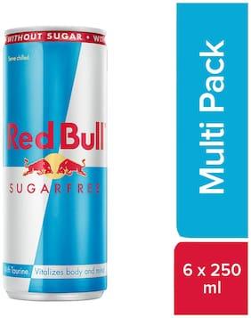 Red Bull Energy Drink Sugarfree 250 ml (6 Pack)