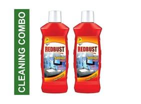 RedBust Bathroom Cleaner (Lemon) 500ml (Pack of 2)