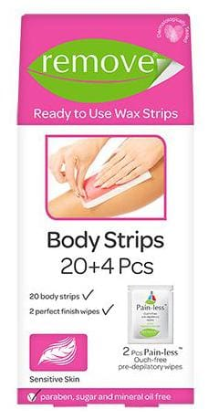 remove Body Strips - Sensitive Hair  24 pcs