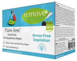 remove Pain-Less Pre Depilatory Wipes 20 Pulls