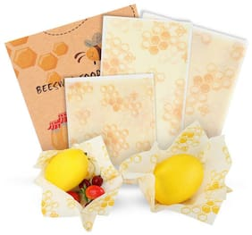 Reusable Beeswax Food Wrap Set of 3 Packs Hygenic Cotton Bee Wax Cloth