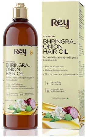Rey Naturals Bhringraj/Bhringa oil with Onion extract For Hair Strengthening,Anti-hair Fall,Split-ends - 200 ml Hair Oil Pack of 1