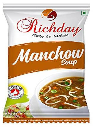 Richday Manchow Soup [Combo of 12 Packets contains 15 g each]