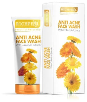 Richfeel Anti Acne Face Wash With Calendula Extracts 100G