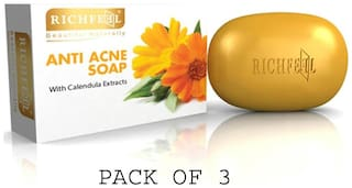 Richfeel Anti Acne Soap With Calendula Extracts (Pack of 3)