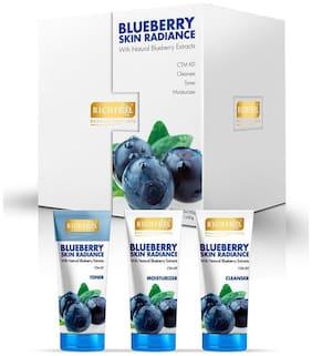 Richfeel Blueberry Skin Radiance Kit - Cleanser Toner & Moistriser 250 g