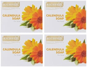 Richfeel Calendula Soap For Acne 75 gm (Buy 3 Get 1 Free)