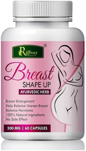 Riffway Braeast Shape Up For Develop Breast Harmons 100% Ayurvedic (60 Capsules)