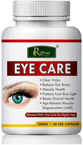 Riffway Eye care Herbal Capsules For helps to clear your vision 100% Ayurvedic-60 Capsules(Pack of 1)