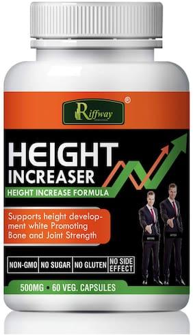 Riffway Height increaser Herbal Capsules For Increases Height & Bone Mass 100% Ayurvedic -60 Capsules(Pack of 1)