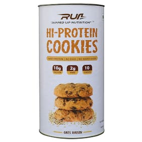 Ripped Up Nutrition Protein Cookies Oats and Raisin 300 gm