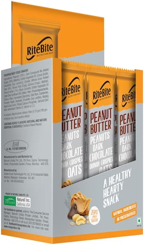 RiteBite Peanut Butter  Energy and Nutrition Bars 480g - Pack of 12