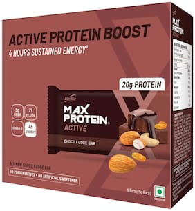 RiteBite Max Protein Active Choco Fudge Bars 450g - Pack of 6 (75g x 6)