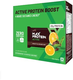RiteBite Max Protein Active Green Tea Orange Bars 420g