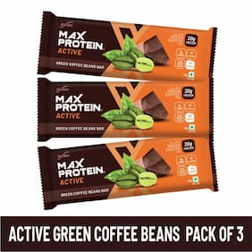 RiteBite Max Protein Active Green Coffee Beans Bar 70g - Pack of 3