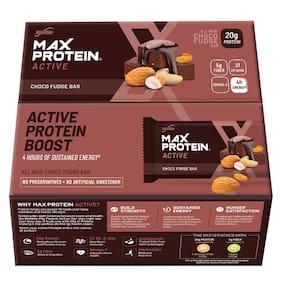 RiteBite Max Protein Active Choco Fudge Bars Pack of 1 (75g x 12 Bars)