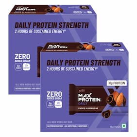 Ritebite Max Protein Daily Choco Almond Bar 50g - Pack of 12