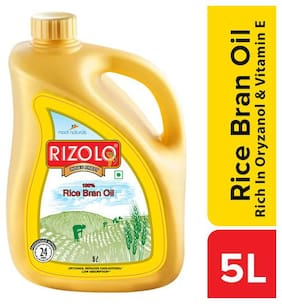 Rizolo Rice Bran Oil - Rich In Oryzanol & Vitamin E   5L
