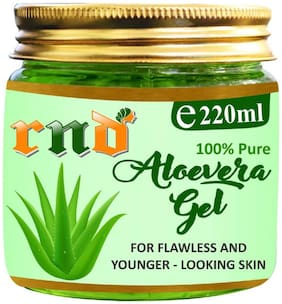 RND Pure & Organic Soothing Aloe Vera Gel For Face;Skin and Hair  Best Multipurpose Beauty Gel  Paraben & Sulphate Free (220 ml)