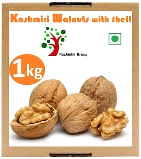 Rockishii Kashmiri Organic Walnuts with shell 1000 gm