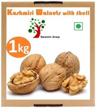 Rockishii Kashmiri Organic Walnuts with shell 1 kg