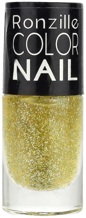 Ronzille Glitter Nail Paint 6ml Lime Green