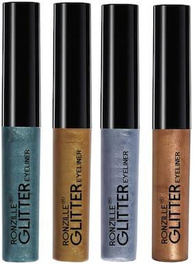 Ronzille Glitter Eyeliner Multi Pack of 4 (5ml Each)