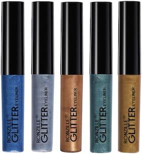 Ronzille Glitter Eyeliner Multi Pack of 5 (5ml Each)