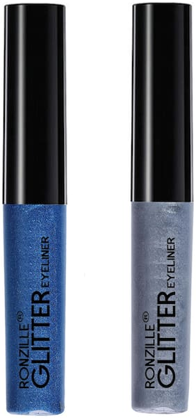 Ronzille Glitter Eyeliner Blue And Silver 5ml (Pack of 2)