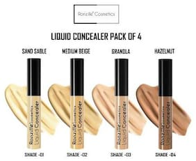 Ronzille High Definition Pro Liquid Concealer And Contour  9ml (Pack of 4)