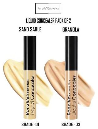 Ronzille High Definition Liquid Concealer 9ml (Pack of 2)