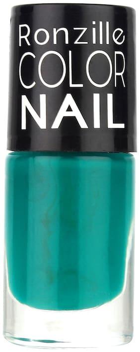Ronzille High-Shine Long Lasting Non Toxic Professional Nail Polish Royal Dark Teal (Green) 6ml
