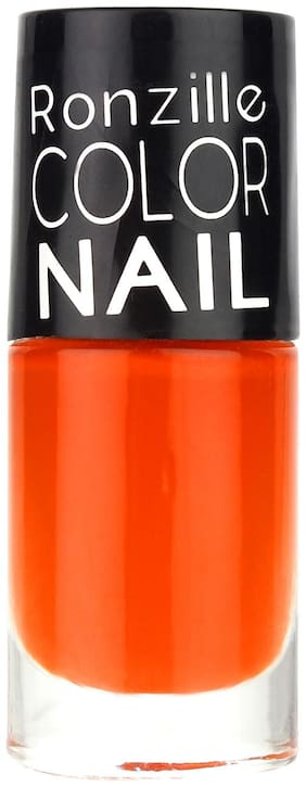 Ronzille High-Shine Long Lasting Non Toxic Professional Nail Polish Orangey Pantone (Orange) 6ml