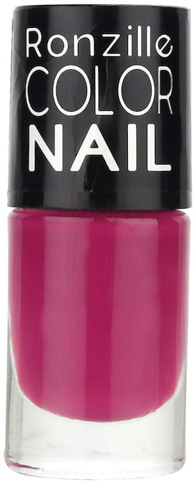Ronzille High-Shine Long Lasting Non Toxic Professional Nail Polish Berry Fairy (Purple) 6ml