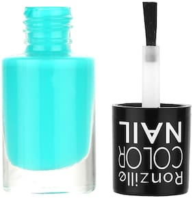 Ronzille Matte Finish Nail Paint With Quick Dry Formulation Vampy Dark (Turquoise Blue) 6ml