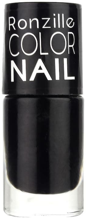 Ronzille Matte Finish Nail Paint With Quick Dry Formulation Trompeur Charcoal (Black) 6ml