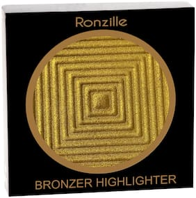 Ronzille Professional Gold Blusher And Highlighter Pack of 1
