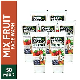 Roop Mantra Mix Fruit Face Wash 50ml Pack Of 7
