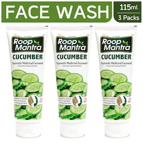 Roop Mantra Herbal Cucumber Face Wash 115ml (Pack Of 3)