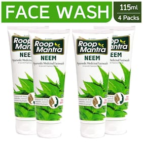 Roop Mantra Neem Face Wash 115ml Pack Of 4