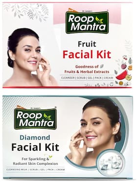 Roop Mantra Fruit Facial Kit 75g  and  Diamond Facial Kit 75g