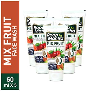 Roop Mantra Mix Fruit Face Wash 50ml Pack Of 5