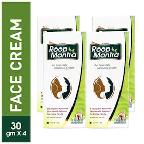 Roop Mantra Fairness Face Cream 30 g (Ayurvedic) Pack of 4