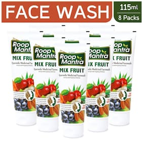 Roop Mantra Mix Fruit Face Wash 115ml Pack Of 8