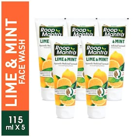 Roop Mantra Lime & Mint Face Wash 115ml Pack Of 5