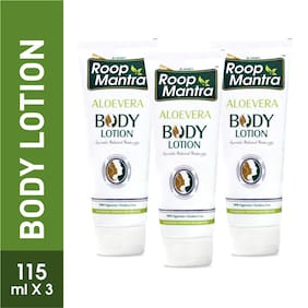 Roop Mantra Body Lotion 115ml, Pack of 3 (Aloevera Body Lotion)