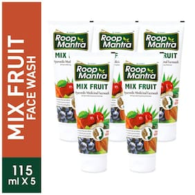 Roop Mantra Mix Fruit Face Wash 115ml Pack Of 5