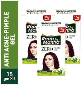 Roop Mantra Zero Pimple Gel 15 g Pack of 3