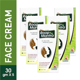 Roop Mantra Fairness Face Cream 30 g (Ayurvedic) Pack of 5